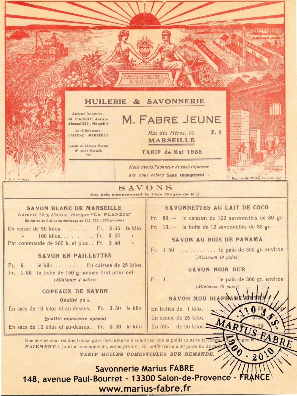 Savonnier Marseillais Marius Fabre